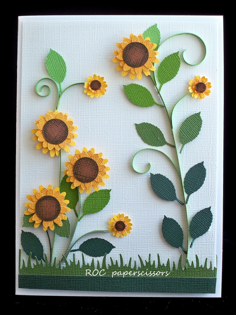 Make Quilling Sunflower Quilled-sunflowers