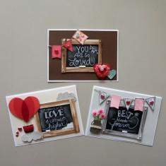 Chalkboard Valentines Card Set