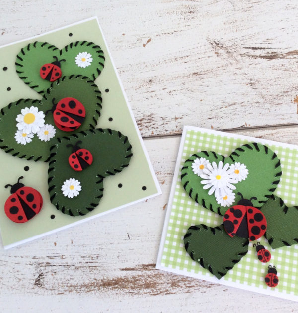 Daisies & Lady Bugs Set - Green