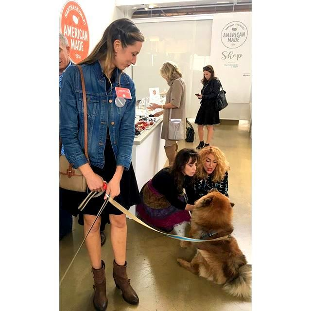 """Martha's chow"""" Peluche"""" Dani Fiori of Sweet Dani B's and I were so in love with this ball of fluff, we totally ignore the honoree that was holding the leash. this amazing photo was courtesy of her instagram acct @alonovak"""