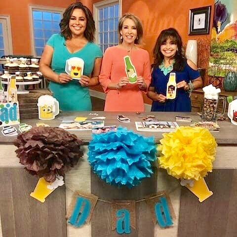 Paper Crafting some Beer and Root Beer for Fathers Day on the Set of Daytime